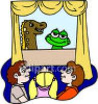 Kids at a Puppet Show clipart